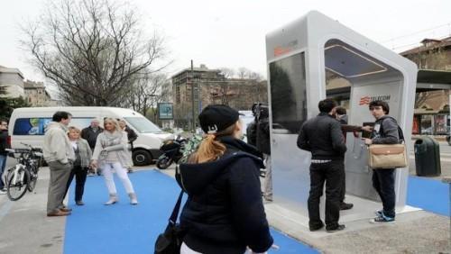la prima cabina intelligente di telecom italia