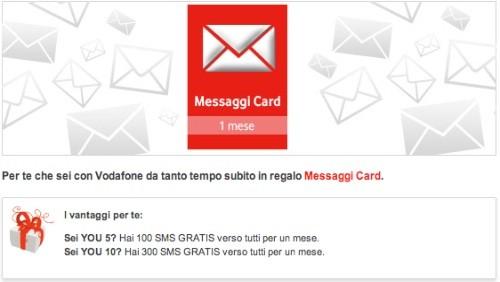 Vodafone You regala SMS gratis verso tutti