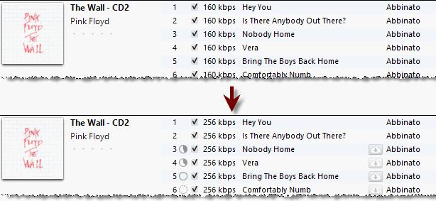 iTunes Match: Upgrade a 256 kpbs
