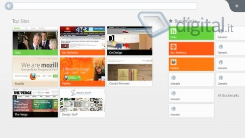 Forefox Metro per Windows 8