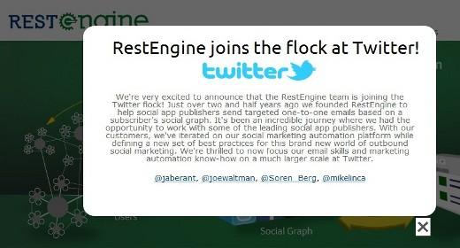 RestEngine da Twitter