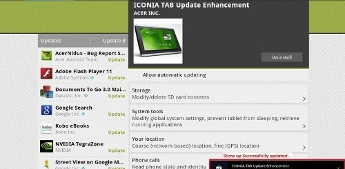 acer iconia tab update enhancement