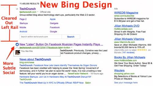 Bing, nuovo design