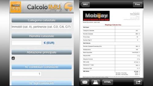 Calcolo IMU con App Store