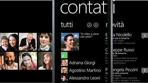 Windows Phone, Contatti