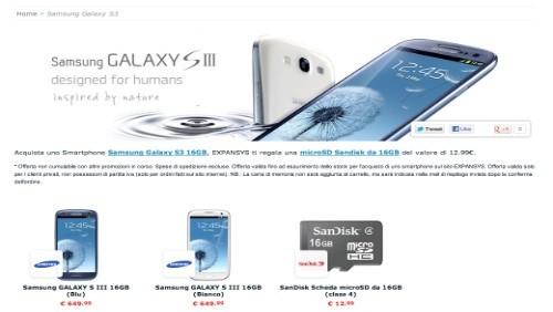 Expansys.it: al via i pre-ordini del Samsung Galaxy S3