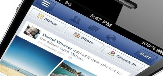 Facebook Mobile su iPhone