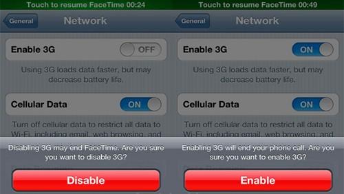FaceTime e connessione 3G