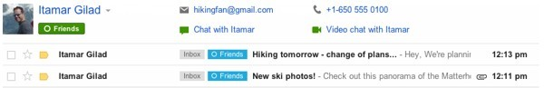 Ricerca dei contatti su Gmail e integrazione con Google Plus