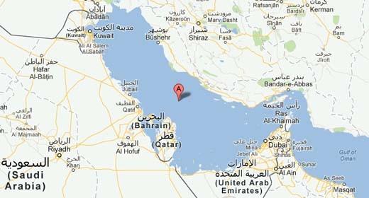 Il Golfo Persico su Google Maps