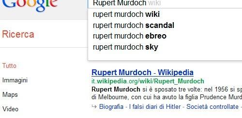 Google, completamento automatico