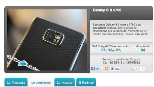 Groupalia: Samsung Galaxy S2 a 379 euro