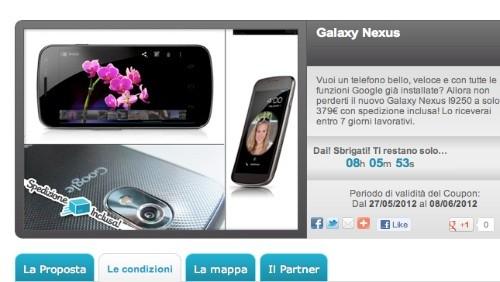 Groupalia, Galaxy Nexus a 379 euro