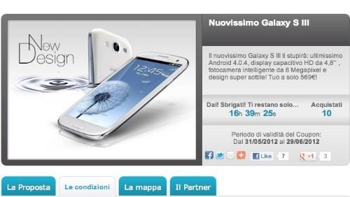 Groupalia: Samsung Galaxy S3 a 569 euro