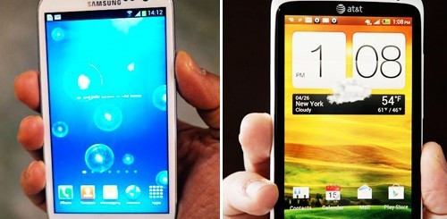 Samsung Galaxy S3 e HTC One X