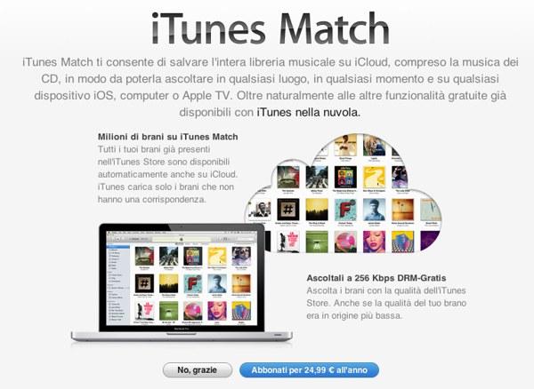 iTunes Match in Italia
