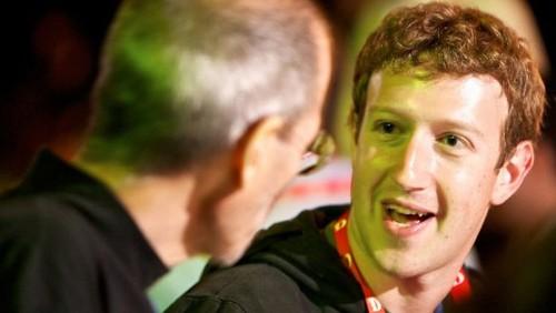 Steve Jobs e Mark Zuckerberg