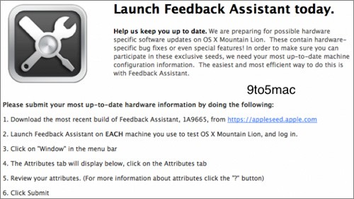 OS X Mountain Lion, AppleSeed