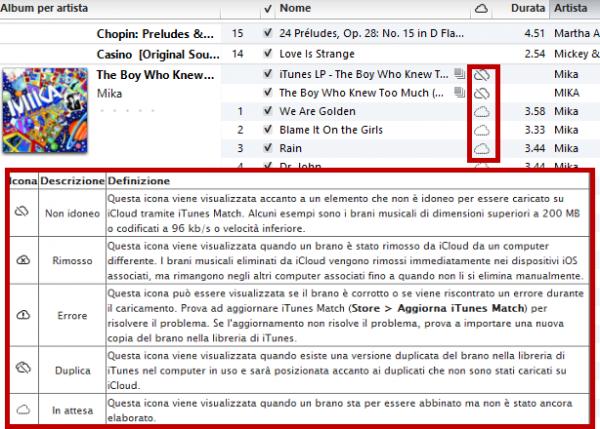Usare iTunes Match: passo 7