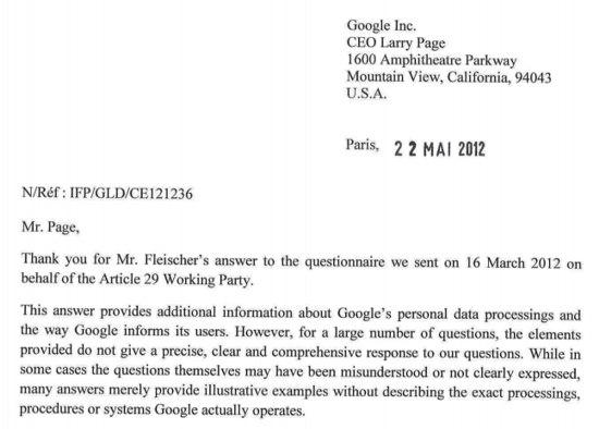 La nuova lettera inviata dalla CNIL a Google