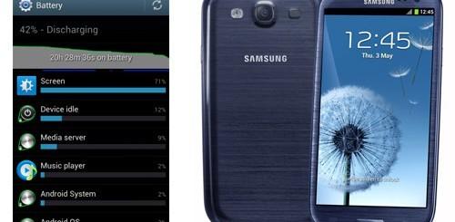 Samsung Galaxy S3, test batteria