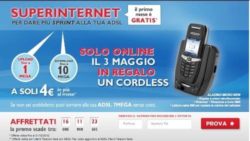 Telecom Italia: solo per oggi con Super Internet in regalo un cordless