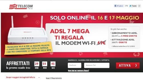 Telecom Italia, modem WiFi in regalo e canone scontato a chi si abbonerà ad ADSL 7 MEGA
