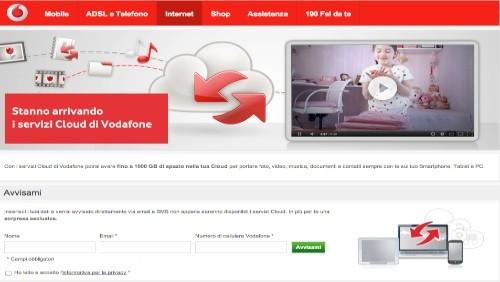 Vodafone Cloud: fino a 1000 GB di spazio online per PC, smartphone e tablet pc