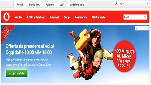 Vodafone Countdown: 300 minuti al mese di chiamate per 3 mesi a 5 euro