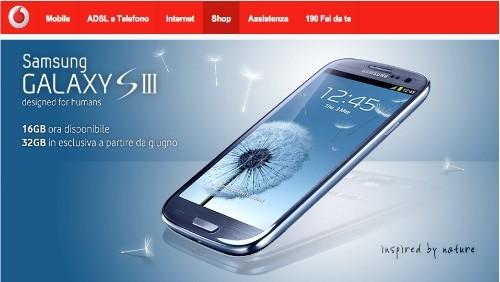 Vodafone: prezzi e dettagli dell'offerta per il Samsung Galaxy S3