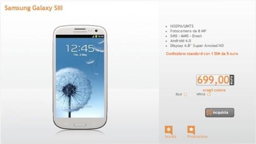 Wind lancia l'offerta abbonamento per il Samsung Galaxy S3