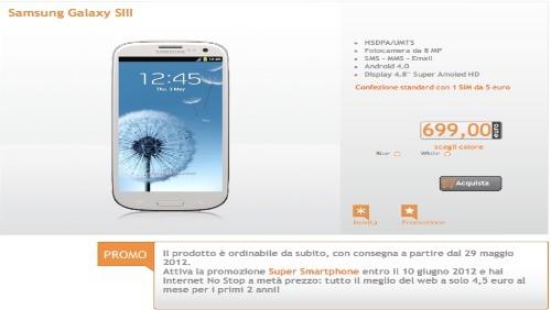 Wind avvia i pre-ordini del Samsung Galaxy S3