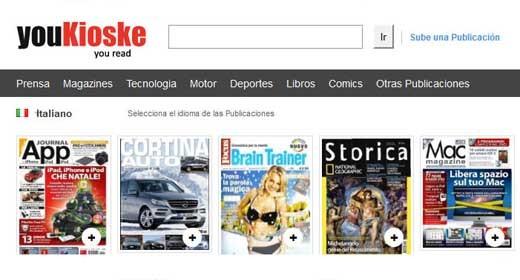 Il portale YouKioske, prima della chiusura
