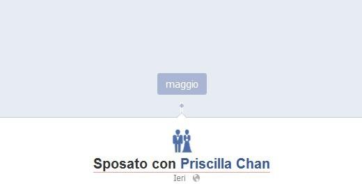 Mark Zuckerberg annuncia il proprio matrimonio su Facebook