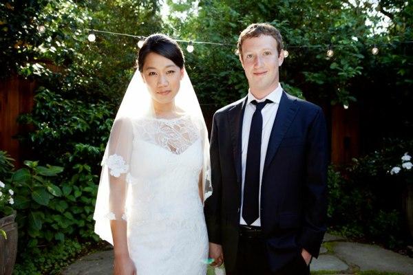 Mark Zuckerberg, la foto ufficiale delle nozze con Priscilla Chan