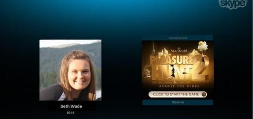Advertising su Skype