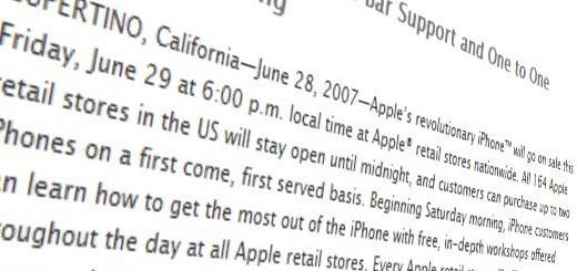 5 anni di iPhone