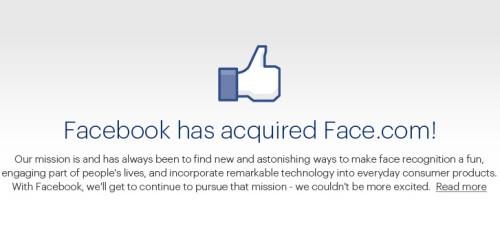 Facebook e Face.com