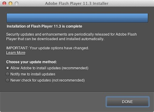 Flash Silent Updater su Mac