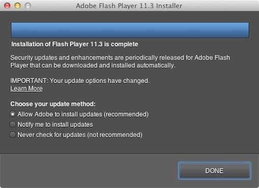 Flash Silent Updater su Mac