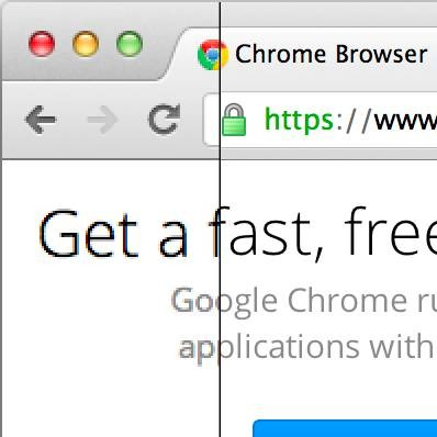 Google Chrome per Retina Display