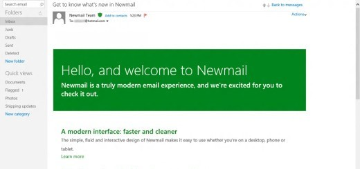 Hotmail in Metro-style