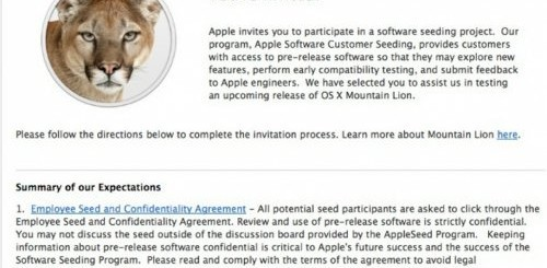 Invito OS X Mountain Lion