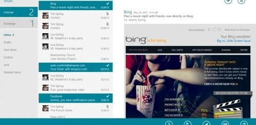 Mail app in Windows 8