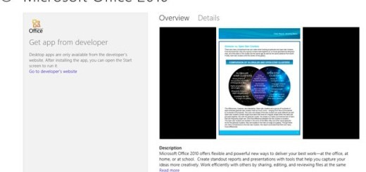Microsoft Office 2010 - Windows Store