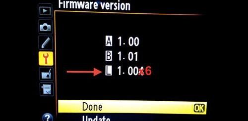 Nikon aggiornamento firmware L