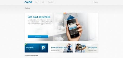 PayPal nuovo sito