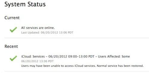 Problemi iCloud