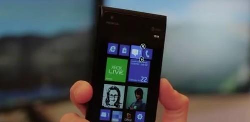Windows Phone 7.8 Start screen