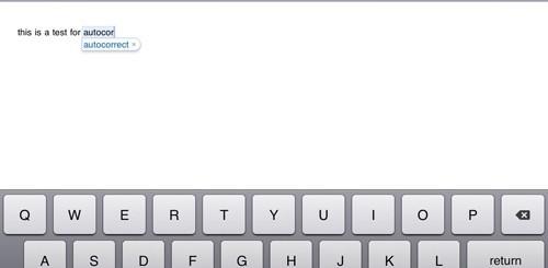 iPad: correttore automatico